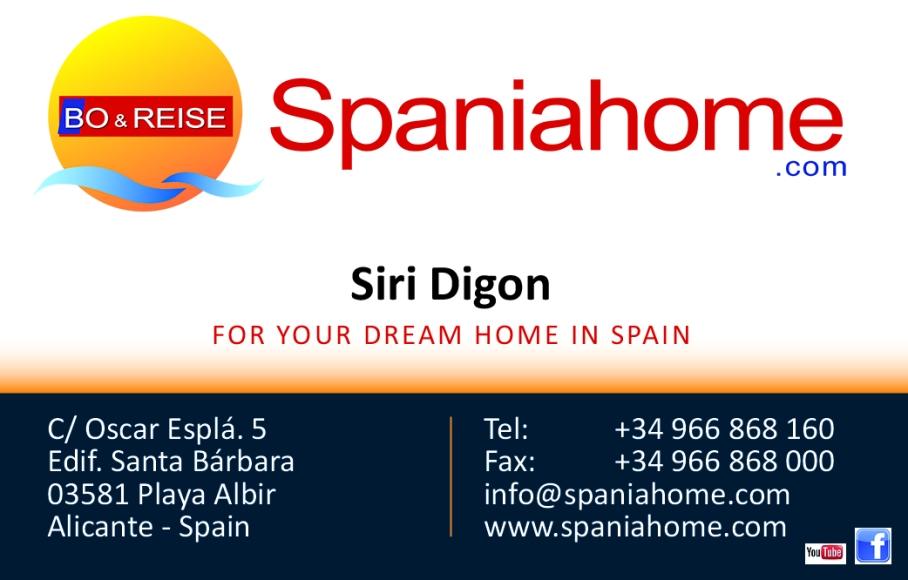 spaniahoome visittkort